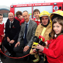 Shropshire Fire and Rescue Service is also proud of county employers' such as St Lawrence CE Primary School head Dick Langford who allows Wayne to down tools