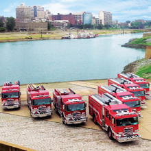 Pierce Arrow XT is engineered for heavy-duty performance in rugged urban environments, and these trucks are an excellent choice to protect the city's citizens and infrastructure