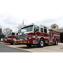 The newest Pierce Velocity pumper for Fairfax County Fire and Rescue is equipped with a Pierce-exclusive Detroit Diesel DD13 500 hp engine