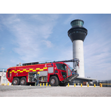 The new Oshkosh fire apparatus aimed at international markets is engineered and constructed to exacting standards by Oshkosh subsidiary, Pierce Manufacturing