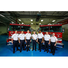 The Milwaukee Fire Department's apparatus fleet includes 45 Pierce pumpers, 21 Pierce aerial ladders, 2 Pierce aerial platforms, & 4 Pierce Heavy-Duty Rescues