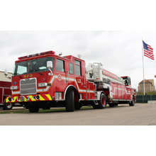 The new Pierce tiller will carry ladders, saws, fans, lights pumps and extrication tools