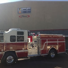 Pierce Quantum pumper offers seating for up to six firefighters, with Pierce PS6 premium hi-back seats for the driver and officer