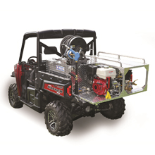 FTUHP-UTV-205 models include a 55-gallon poly water tank with five-gallon foam cell