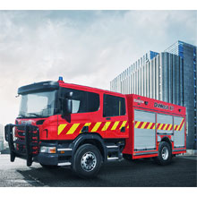Oshkosh XP fire apparatus will be displayed on Scania P360 chassis at the event