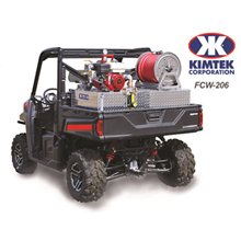 KIMTEK's FCW-206 Compact unit comes equipped with the field-tested Darley Davey 5.5 HP Honda driven pump