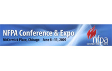 The NFPA Conference & Expo 2009 will be held at McCormick Place, Lake Drive, Chicago from Monday June 8 - Thursday June 11