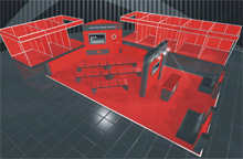 An image of the planned Loss Prevention Certification Board (LPCB) Red Book Pavilion, to be launched at International Firex in May