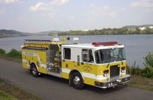 Little Hocking Volunteer Fire Department truck