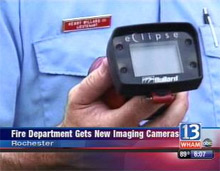13WHAM TV showing the Bullard Eclipse thermal imager, after Rochester Fire Department in New York State purchased thirteen of the imagers