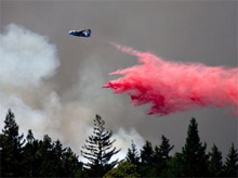 FEMA has authorized the use of federal funds to help fight the Lockheed wildfires in Santa Cruz County, California