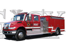 A Legacy pumper by KME Fire Apparatus - one of the new vehicles the company will be exhibiting at FRI 2009 in Dallas, TX
