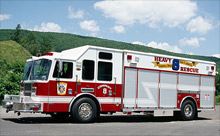 A heavy rescue truck by KME Fire Apparatus: the company will deliver eight heavy rescue trucks to the US Air Force