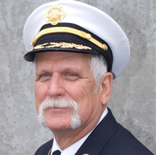 Chief Robert Perry has been a volunteer firefighter for more than 40 years