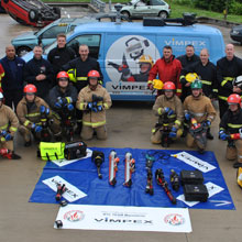 Vimpex supplied equipment, including TNT Hydraulics, RHYNO Windscreen Cutters and Pacific Rescue Helmets