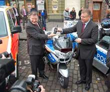 """The symbolic event was celebrated with an official ceremony at the """"Davidwache"""" Police Station, Hamburg"""