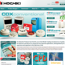 New website has been designed to provide easy access to Hochiki Europe's wide range of fire detection and emergency lighting systems
