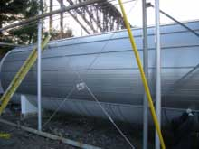 Central Hudson engineers have designed a new tank using Thermablok aerogel insulation material