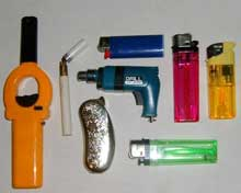 Local units of government have banned novelty lighter sales