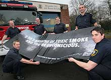 Toxic smoke warning from shropshire fire crews