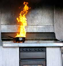 Firefighters are warning householders to cook with safety in mind