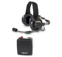 One of Firecom's wireless headset systems, which will be exhibited at Fire Rescue International (FRI) 2009