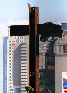 A cross at Ground Zero. The IAFF is hailing the efforts of the Uniformed Firefighters Association (UFA) in trying to gain proper recognition for the sacrifice of NY firefighters and other first responders who died on September 11, 2001