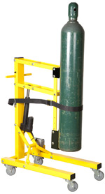 The QR-CL from Ziamatic - for the safe lifting and lowering of oxygen cylinders