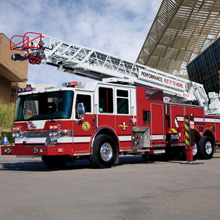 Pierce Manufacturing displayed seven fire apparatus at Fire Rescue International 2012