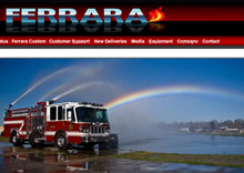 An image from Ferrara Fire Apparatus, Inc.'s newly relaunched website