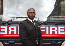 Les Bowman, a firefighter with the London Fire Brigade for 23 years, has been awarded the Queen's Fire Service Medal in recognition of his service to Londoners