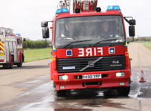 Fire driver training in action: many fire and rescue services are unlocking the benefits of in-vehicle mobile CCTV systems (such as those produced by TSS) for fire driver training