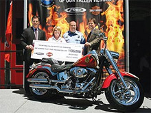 Pierce Manufacturing and Harley-Davidson today announced that $135,000 was raised for the National Fallen Firefighters Foundation via their Full Throttle Support campaign