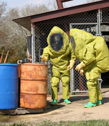 The U.S. Department of Defense purchased 350 ONESuit® protective hazmat suits, including the ONESuit® Gard pictured here