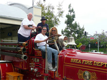 At the Firefighters Quest for Burn Survivors Annual Quest Rally participants travel caravan-style throughout Southern California
