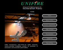 Unifire AB has launched a new SafeIncinerator website and YouTube video channel devoted to showcasing its automatic and remote-controlled fire protection for incinerators, incineration plant facilities, aircraft hangars and other large buildings