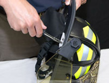 New from Bullard: an online training facility for firefighters hoping to comply with the NFPA standard for fire helmet care