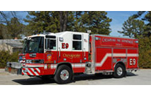 One of the Pierce Ultimate Configuration (PUC) pumpers delivered to Chesapeake Fire Department
