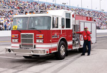 Pierce has been named the 'Official Fire Truck' at the Daytona International Speedway for the 11th year running