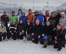 Fire and rescue staff members at annual ski championship