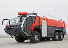 PANTHER 6x6 CA5 represents a reliable partner for fire-fighting at the airport