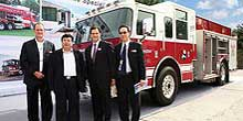 Pierce Manufacturing, reported its first ever sale of Pierce fire apparatus in China