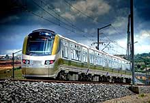 With speed of up to 160 km/hr, reduce the journey time between Johannesburg and Pretoria