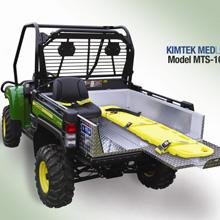 Kimtek's MEDLITE Transport is constructed of bright aluminum diamond plate with aluminum tubing sub-frame