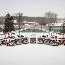 Pierce vehicles are outfitted with special custom cabinets to allow firefighters to reach critically important equipment from inside the climate-controlled cab