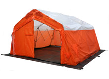 The new rigid frame emergency response shelter from Hughes Safety Showers Ltd will be launched at Fire & Rescue 2009, at stand R15 in Hall 2