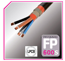 Prysmian's enhanced performance fire-resistant power cable, FP600S, has now been certified compliant with BS 7346-6:2005 & test standard BS 8491:2008