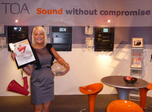 Lauren Hall, Sales & Marketing Support at TOA, at the company stand at International Firex 2009