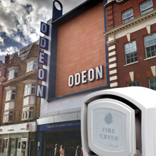 Odeon's Fire-Cryer Plus is suitable for different environments found in a typical cinema