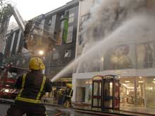 London Fire Brigade prosecuted New Look following a serious fire at their Oxford Street store